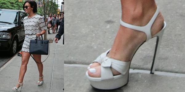 demi lovato sandali bianca saint laurent