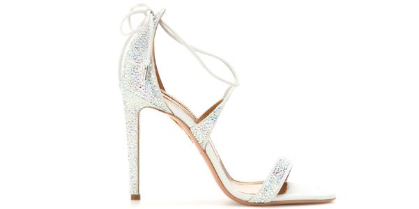 sandali linda aquazzurra cristalli