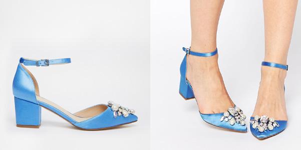scarpe raso azzurro cristalli