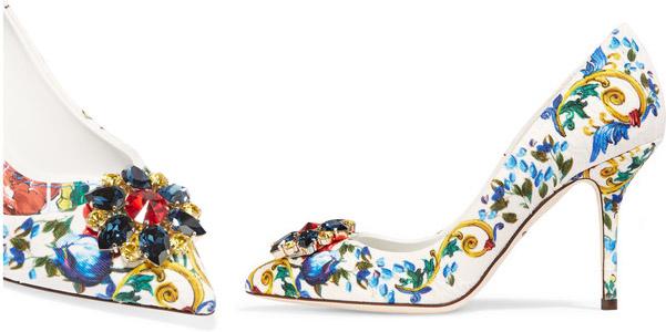 Scarpe Sposa Dolce E Gabbana.Decolletes Dolce E Gabbana Tra Ceramiche E Swarovski