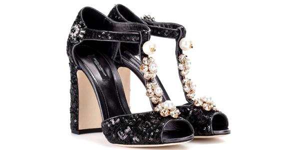 Gabbana e con Sandali e perle Keira paillettes Dolce Tl3F1cKJ