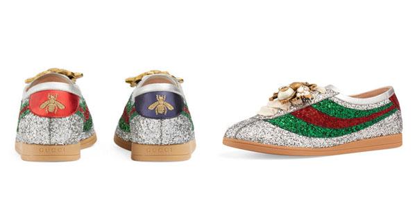 Sneakers glitter di Gucci