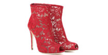 Ankle boot in pizzo Dolce e Gabbana