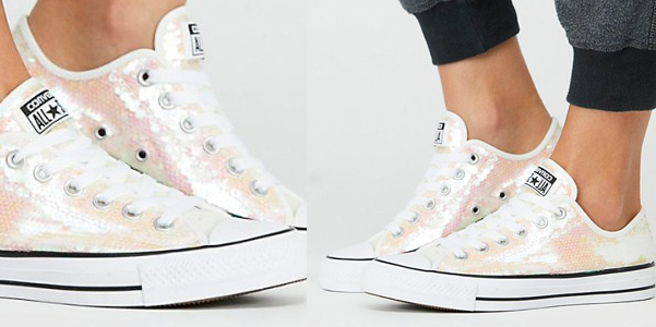 Le All Star di Converse in paillettes cangianti