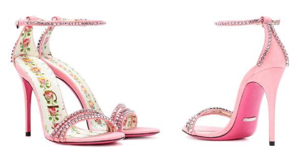 I sandali con cristalli e fiori di Gucci