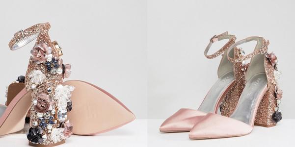 I sandali di glitter e fiori di Asos