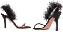 I sandali in piume e cristalli di Amina Muaddi
