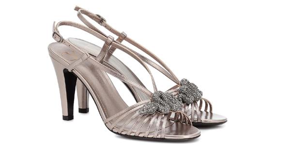 Sandali in pelle metal di Valentino: so vintage