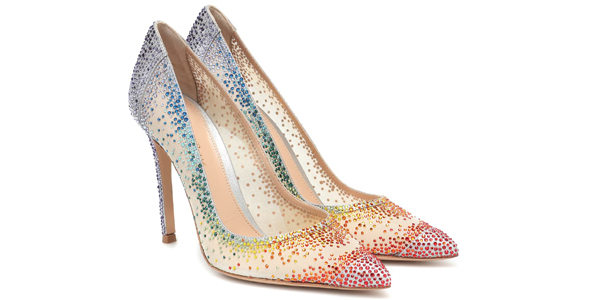 Decolletes Rania di Gianvito Rossi: so sparkling!