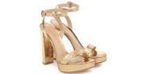 I sandali d'oro e cocco di Gianvito Rossi