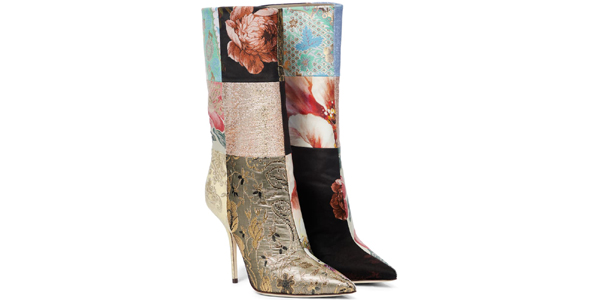 Gli stivali patchwork di Dolce e Gabbana