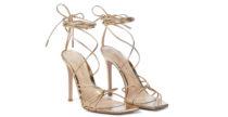Listini super sottili e tutti d'oro: i nuovi sandali di Gianvito Rossi