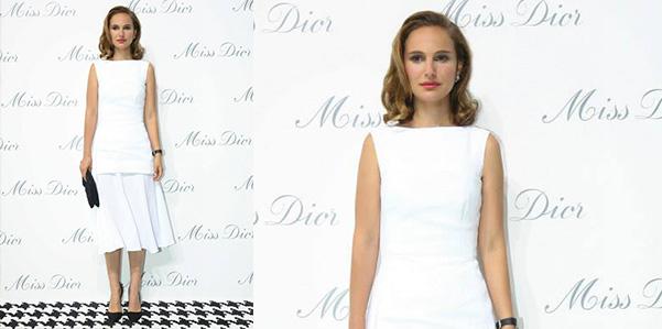 Natalie Portman inaugura la mostra Miss Dior a Shanghay