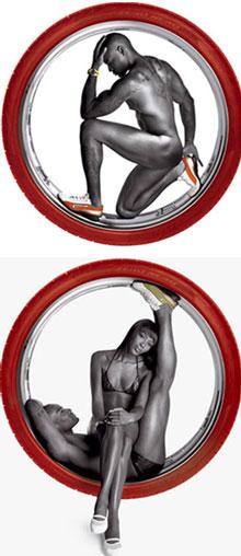 Naomi campbell e tyson beckford per p zero pirelli very for Naomi campbell pirelli