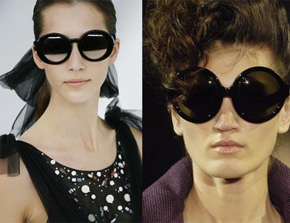 Occhiali da sole della collezione estate 2007 di YSL e Chanel