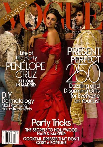 Penelope Cruz su Vogue USA Dicembre