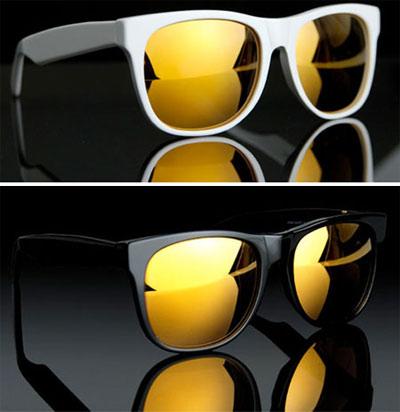 ray ban aviator specchio dorati
