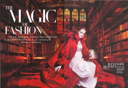 Emma Watson protagonista di un editoriale di Harper's Bazaar
