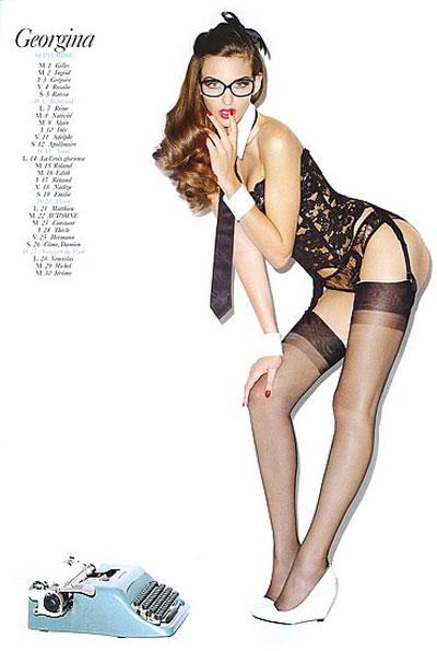Georgina Stojiljkovic sul calendario Vogue Paris 2009