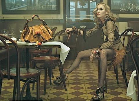 Madonna fotografata da Steven Meisel per Louis Vuitton
