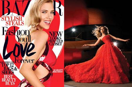 Scarlett Johansson Cavalli Oscar de la Renta