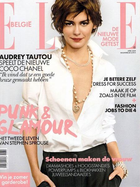 Audrey Tatou Elle Belgio