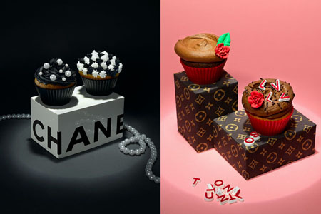 Chanel Vuitton cupcake