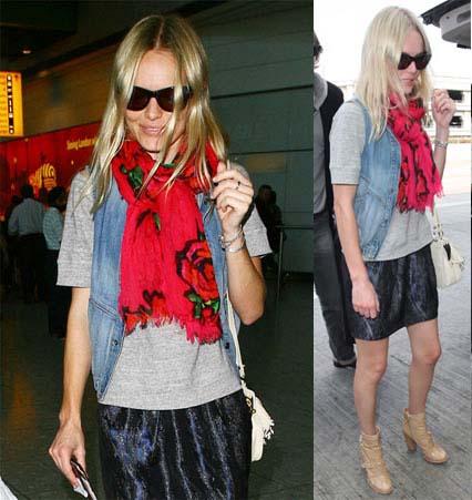 Kate Bosworth Louis Vuitton scarf