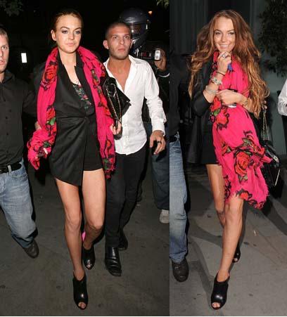 Lindsay Lohan Louis Vuitton scarf