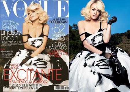 Lindsay Lohan Marilyn Monroe Vogue