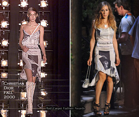 carrie bradshaw christian dior fall 2000 dress