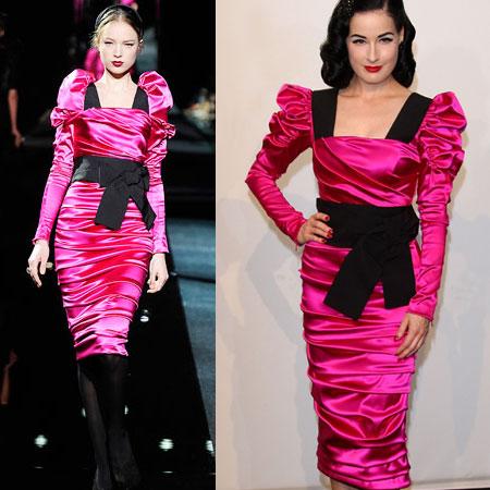 Dita Von Teese in Dolce & Gabbana