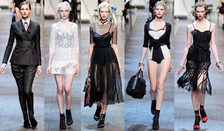 milano fashion week p/e 2010 dolce gabbana