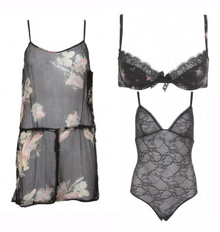 Kate Moss Topshop lingerie
