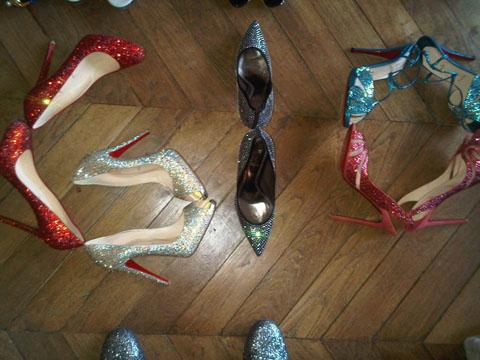 Giovanna Battaglia shoe writing