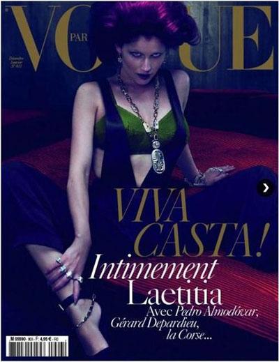 Laetitia Casta cover Vogue Paris Dicembre 2009