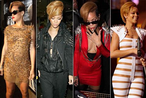 Rihanna spalle con borchie