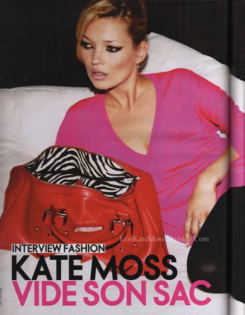 Kate Moss per Longchamp Elle France