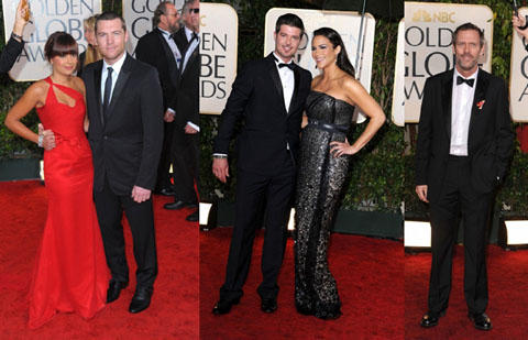 Golden Globes 2010 uomini in Burberry