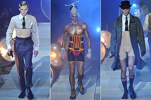 John Galliano corsetti uomo collezione a/i 2010