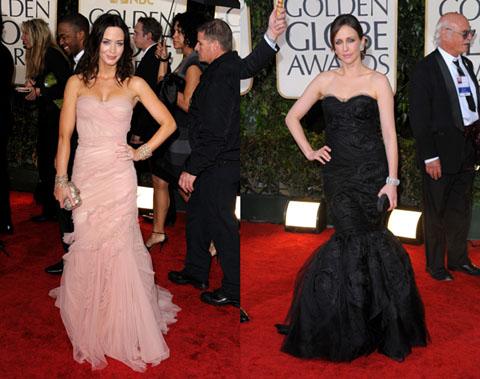 Golden Globes 2010 Emily Blunt Vera Farminga
