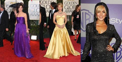 Golden Globes 2010 Sandra Bullock Christina Applegate Lindsay Lohan
