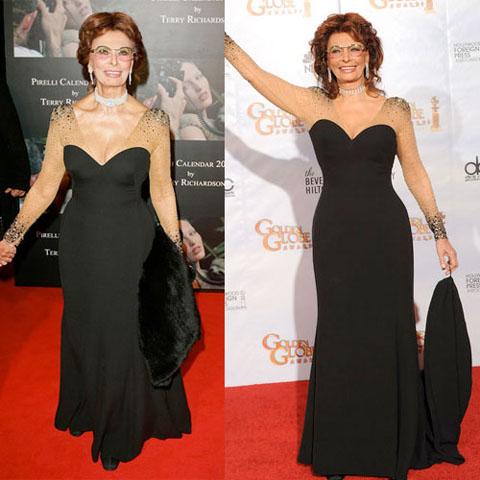 Sophia Loren Armani Golden Globes 2010