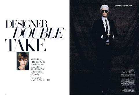 Iris Strubegger Karl Lagerfeld