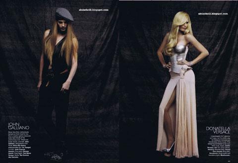 Iris Strubegger John Galliano Donatella Versace