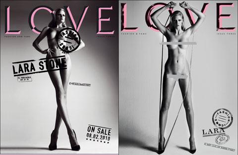 Love Magazine Lara Stone