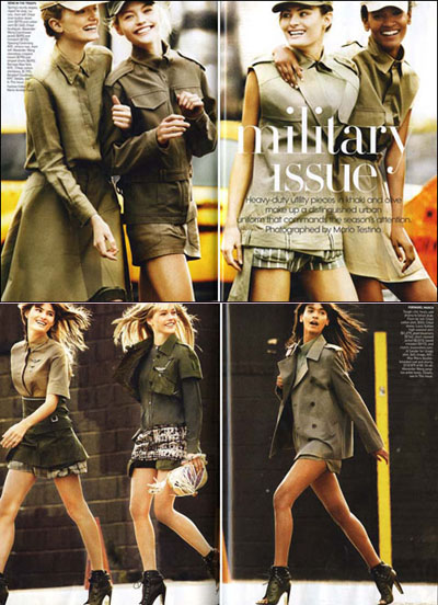 Vogue US military issue