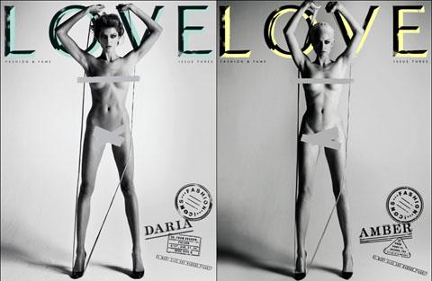Love Magazine Daria Werbowy Amber Valletta