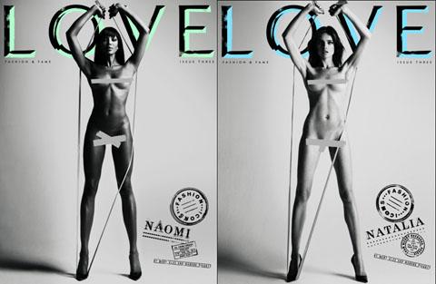 Love magazine Naomi Campbell Natalia Vodianova