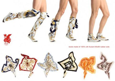 Foulard boots Russyvalenki